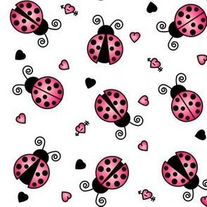 Love Bug Pink Ladybugs