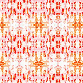Tangerine Lace Overlay