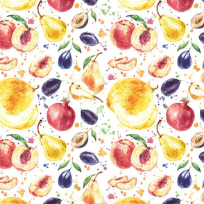 Watercolor Juicy Fruit