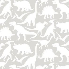 Little Dinosaur Friends - White Light Grey