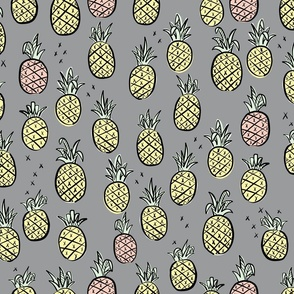pineapples gray
