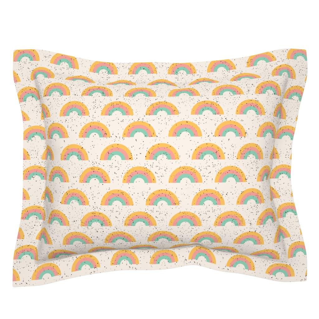 Sebright Pillow Sham featuring Rainbow sherbet by tramake