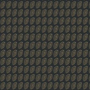 Pale Mustard Geometric Hops on Charcoal