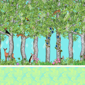 Forest Trip (72in - Turquoise)