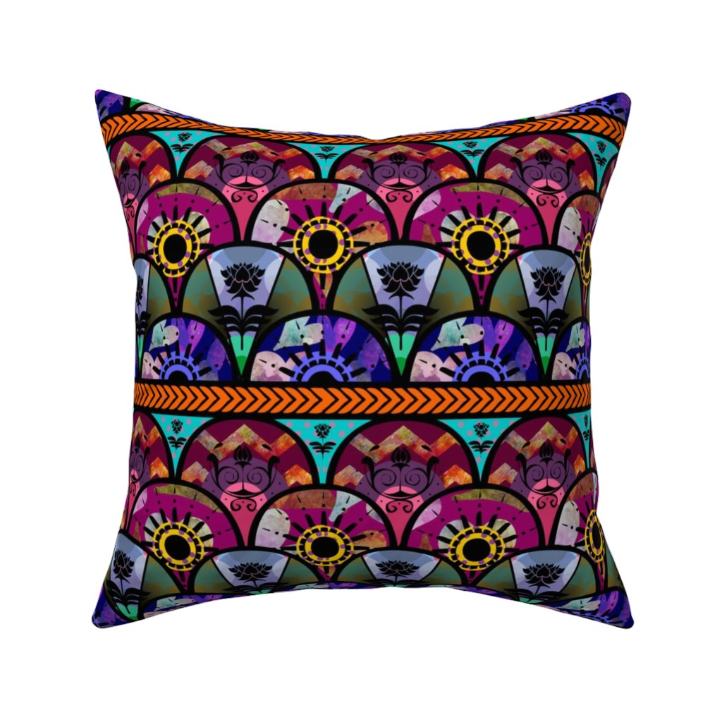 Catalan Throw Pillow featuring Bold Boho Beauty by cherie