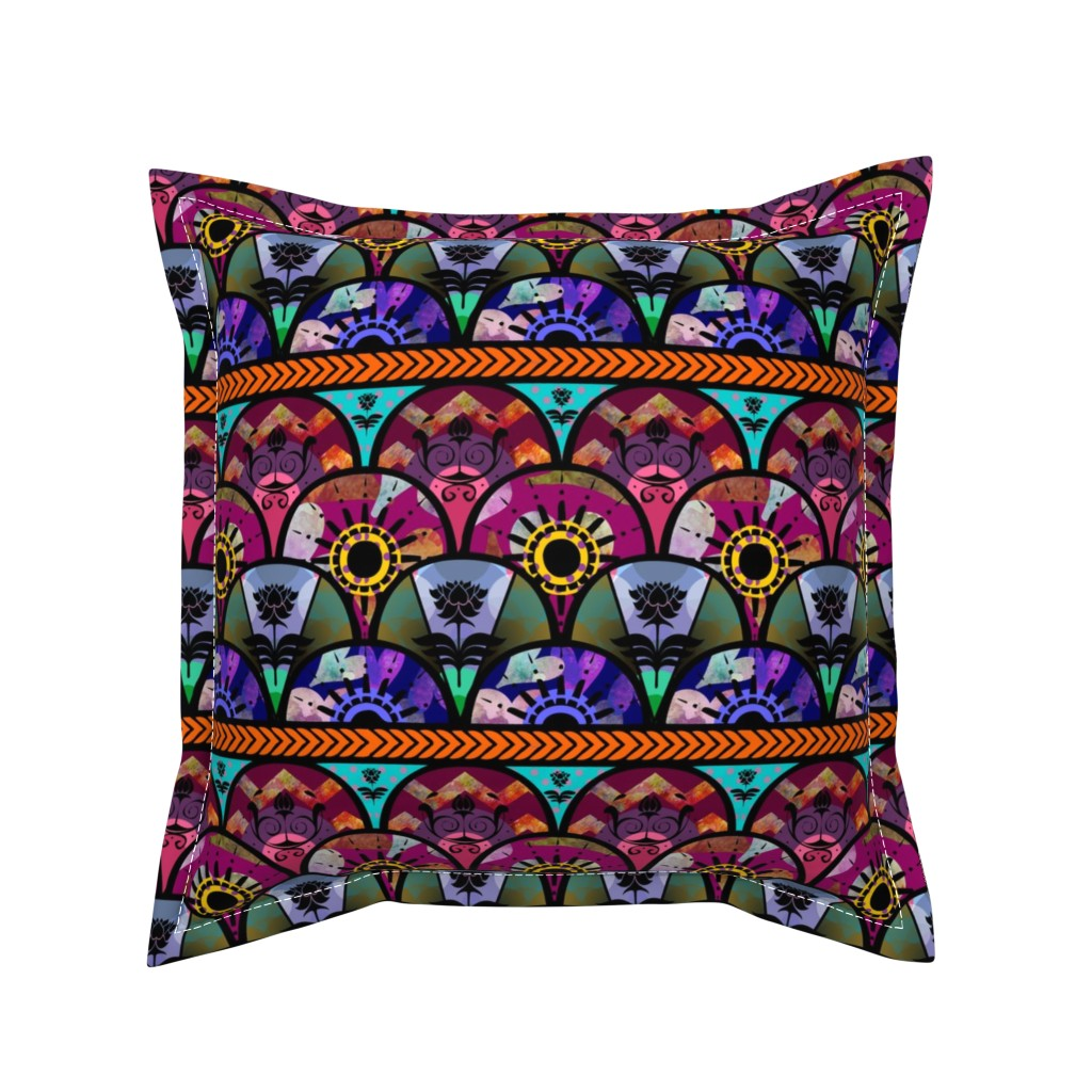 Serama Throw Pillow featuring Bold Boho Beauty by cherie