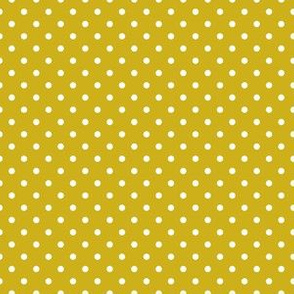 Mustard with White Dots