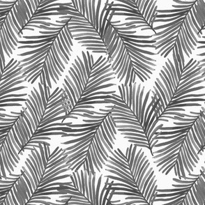 palm print grey watercolor painted palms palm beach palm springs tropical summer trendy tropical