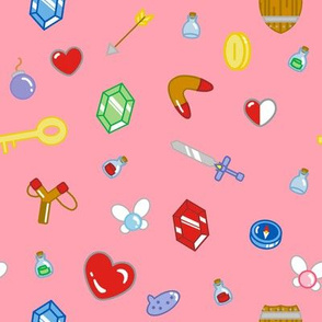 Adventure Items in Pink