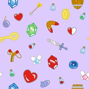 Adventure Items in Lilac