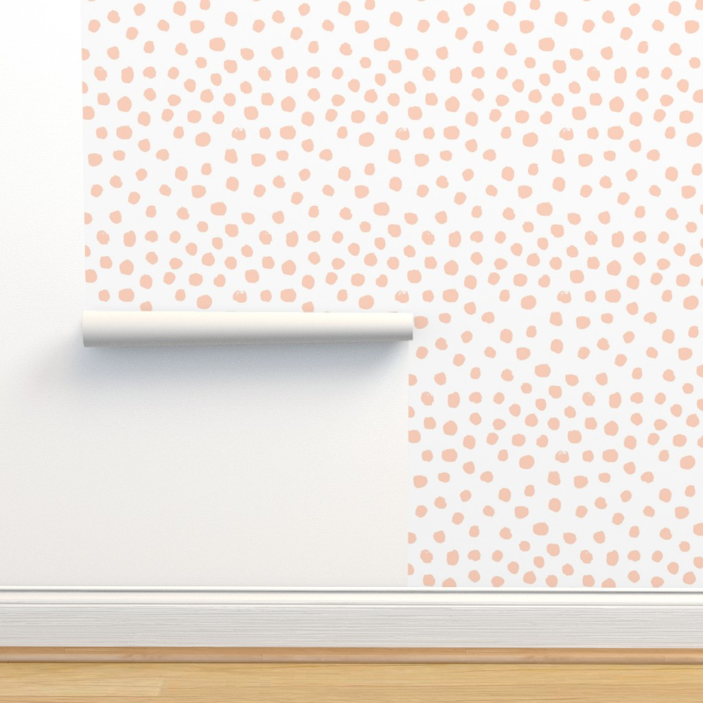dots painted dots pastel peach light on