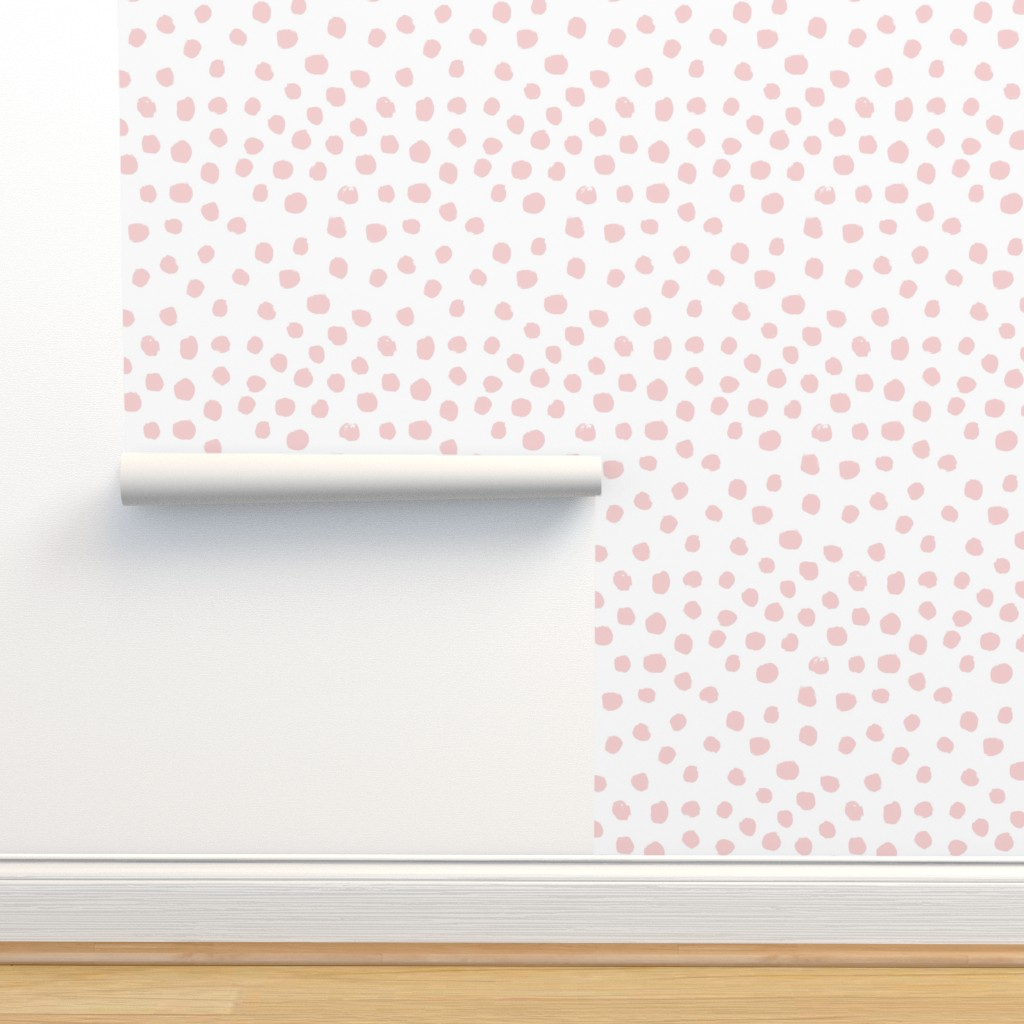 Dots Pink Pale Pink Pastel Pink On Isobar By Charlottewinter
