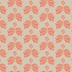 16-06T Peach Tan Folk Flowers_Miss Chiff Designs