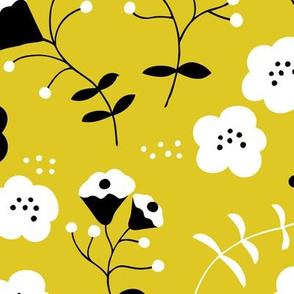 Hot summer flowers sweet mustard yellow white blossom for girls