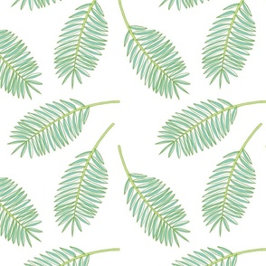 Palm Fronds (White)