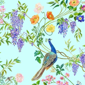 Peacock Chinoiserie  WALLPAPER