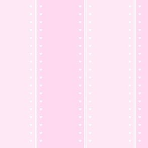 Heart Stripes -Pink