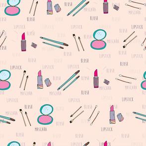 Blush and Lipstick