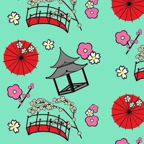 Japanese Flower Garden Mint