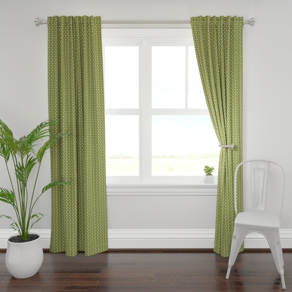 Plymouth Curtain Panel featuring Trees in Olive by cindylindgren