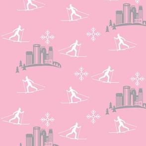 Minneapolis Skier, pink