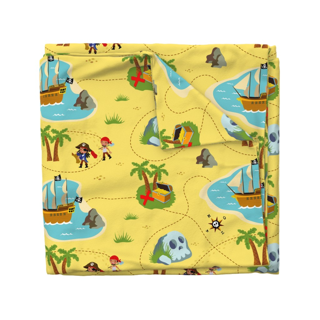 Wyandotte Duvet Cover featuring How to find treasure by miriam_bos