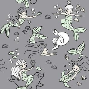mermaids gray