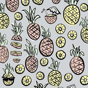 pineapples with sunglasses