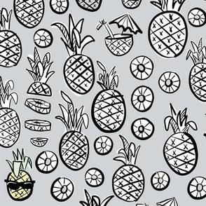 pineapples black + white