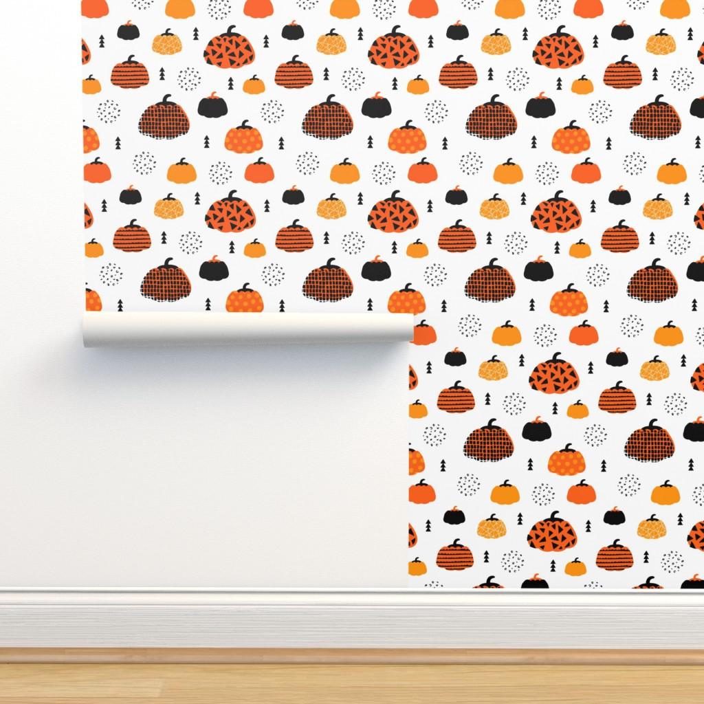 Fall Fruit Geometric Pumpkin Design Scandinavian On Isobar