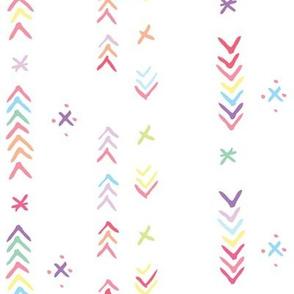 Playful Pastel Arrow Stripe