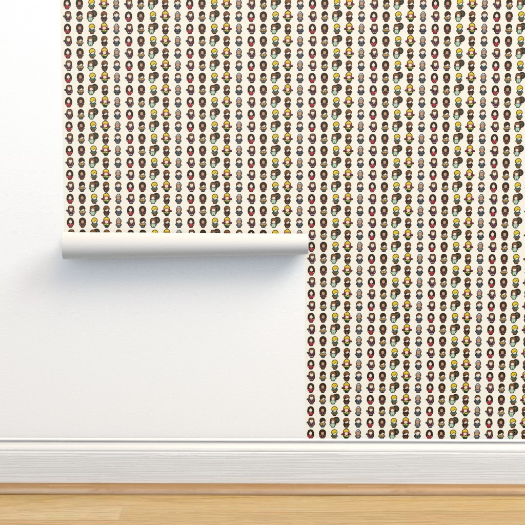 Isobar Durable Wallpaper featuring We Aim to Misbehave (cream) - small by studiofibonacci