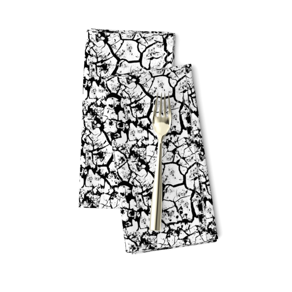 Amarela Dinner Napkins featuring Crackle B&W by parisbebe