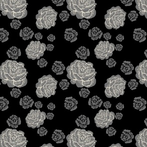 just roses 2 - cement/clay/black