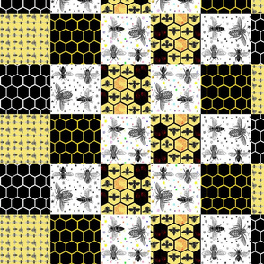 Bumble Bees | Patchwork Cheater Quilt Blocks