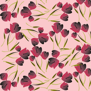 Tulips Pink on Pink