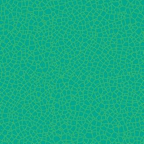 solid aqua with lime crackle