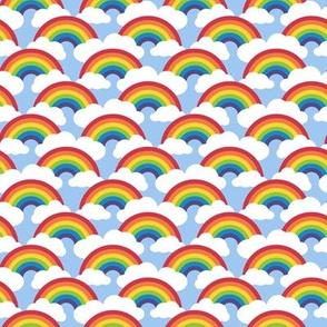 "1.5"" small circle rainbow - blue skies"