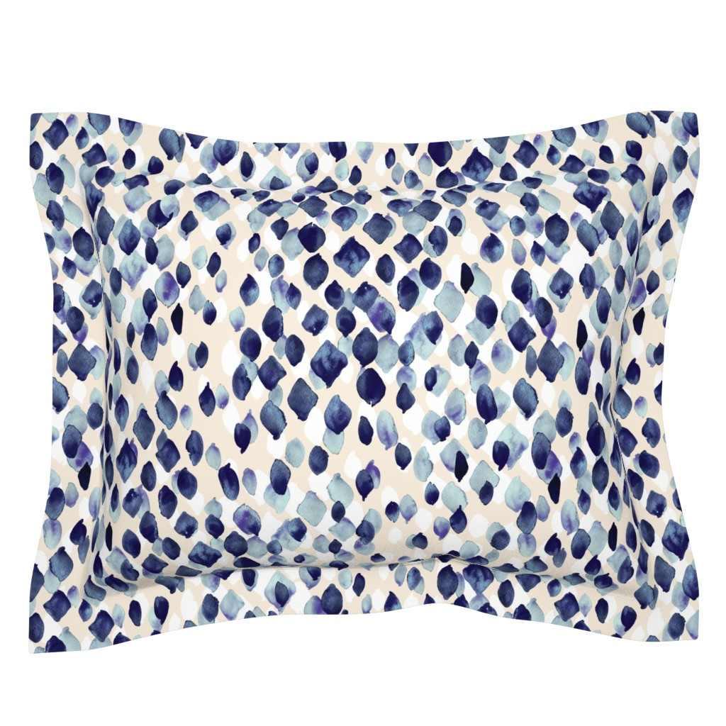 Sebright Pillow Sham featuring Indigo Rain by crystal_walen