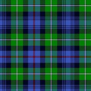 "Mackenzie / Seaforth Highlander tartan, 6"", modern colors"