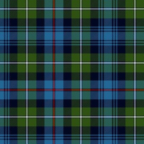 "Mackenzie / Seaforth Highlander tartan, 6"" ancient colors"