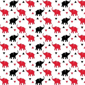 Elephants & Triangles - Red / Black / White - Small Scale