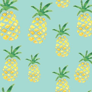Pineapple Pattern - Mint