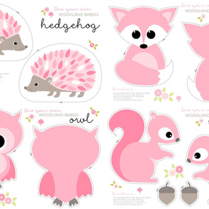Baby woodland cut and sew in pink