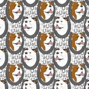 Bulldog horseshoe portraits