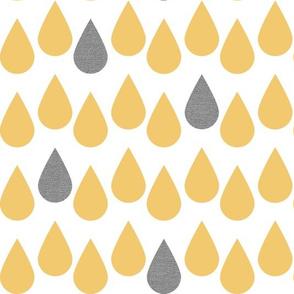 yellow Raindrops