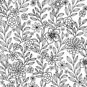 Color in Floral Doodles