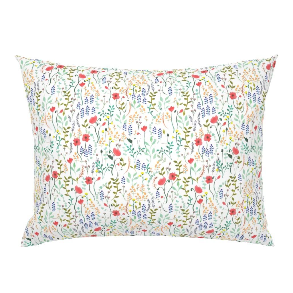 Campine Pillow Sham featuring Wildflowers by valeri_nick