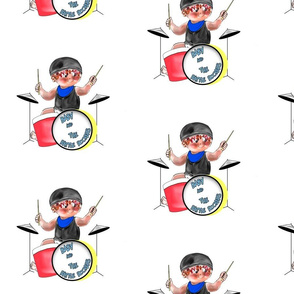 Baby Rockin Drummer by Rosanna Hope for Babybonbons