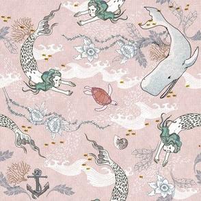 Oceana Mermaids (SMALL) pink